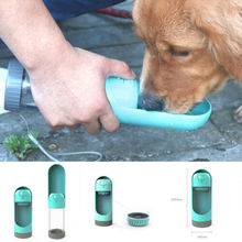 Pet Products 2019 New Supply Dog Drinking Cup Water Bottle Travel Outdoor Portable Feeder