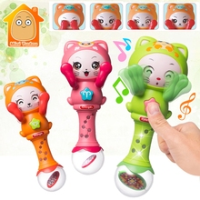 Baby Musical Rattle Handbells Baby Hand Bells Toy For 0-12 M