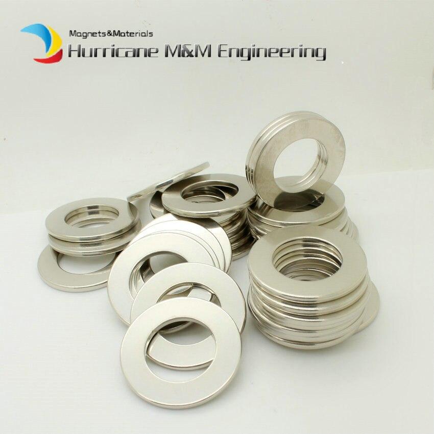 NdFeB Magnet Ring Dia. 43.7x25.1x3 mm N38SH High Temp. Axially Magnetized Strong Neodymium Permanent Rare Earth Magnets 6-200pcs цена