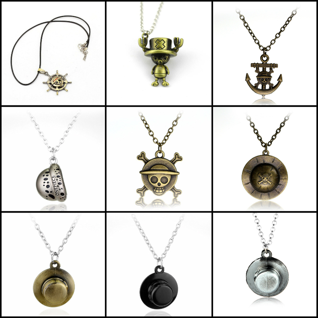 One Piece Luffy Necklace Pendant Artificial Leather Rope Chain
