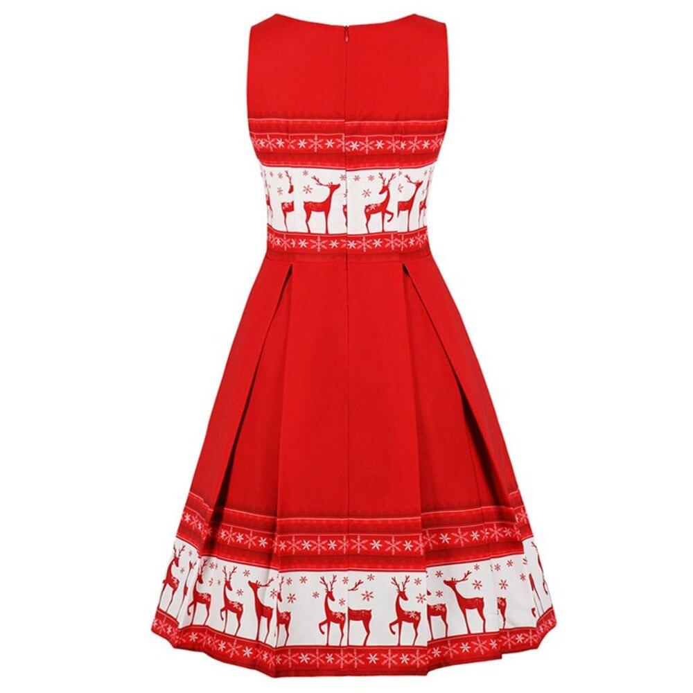 fdac0c4433 Enyuever Red Christmas Dress Womens Tank Lace Up Vestido Vintage S...