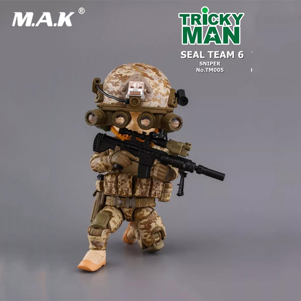 For Collection 5 Military Action Figure TRICKYMAN Seal Team 6 Third Bomb TM005 Sniper Model Toys for Fans Holiday Gift цена