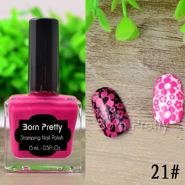 Hot 1pc 15ml Newly Born Pretty Nail Art Stamping Polish Charming ...