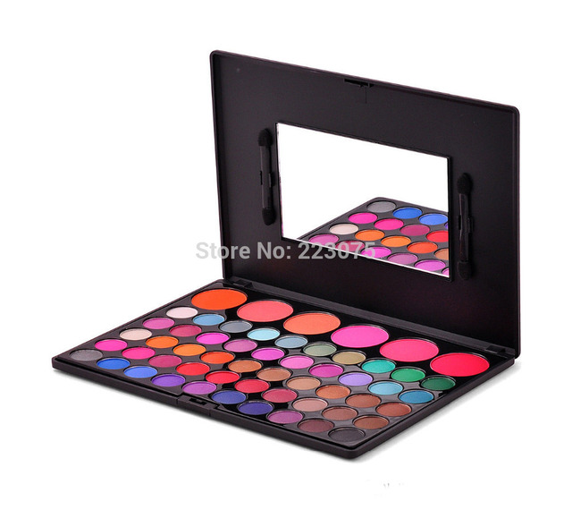 New 50 COLOR EYE SHADOW Eyeshadow 6 BLUSH PALETTE MAKEUP Palette Kit