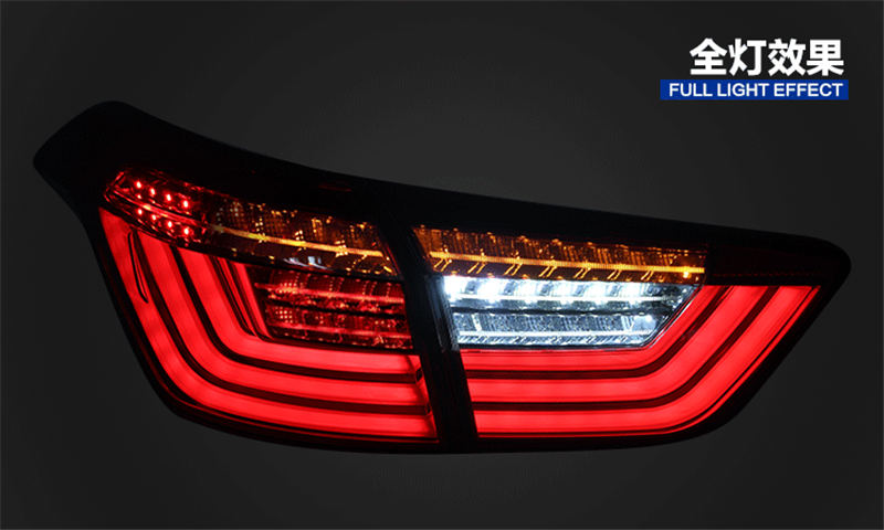 Free shipping for VLAND Car led taillight For Hyundai Ix25 Taillight 2015-2017 Creta Tail lamp With led Moving Signal light DRL free shipping leather car floor mat carpet rug for hyundai ix25 creta only for left steering wheel car