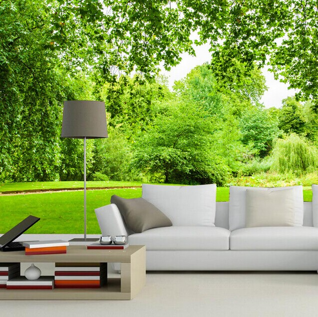 nature inspired murals wallpapers landscape living forest natural