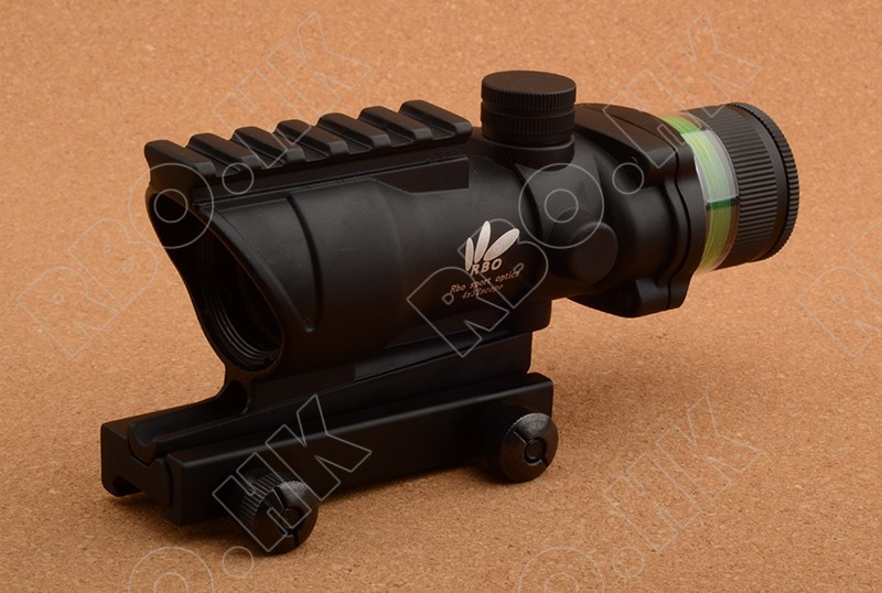 Tactical Style 4x32 Rifle Scope Green Optics Fiber Acog Style Hunting Shooting Rbo M9430 dania moda свитшот дания мода a3658 1015 серый б р серый
