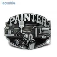 Lacontrie Fashion Hot Sale  Painter Western Metal Belt Buckle For Mens Jeans Accessories Zinc Alloy Buckle Free Shipping