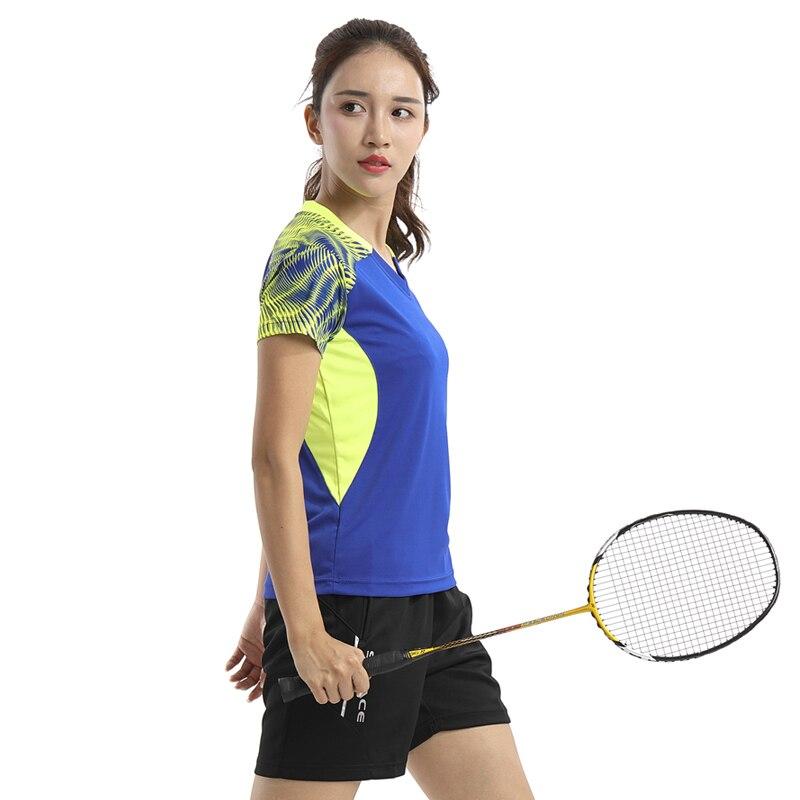 Бесплатная доставка новых теннис-Джерси Для женщин Летние наборы для бадминтона рубашки и шорты Настольный теннис костюмы быстросохнущая ...