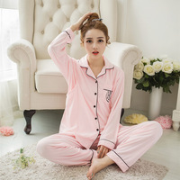 Autumn Cardigan Nightgown Adjustable Pajama Maternity Clothes For Pregnant Women Pink Casual Mothers Breastfeeding Sleepwear Set