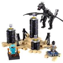 Бела 10178 Fit Legoness Minecraft 21117 Дракон края набор мини цифры 634 шт. здания Конструкторы игрушечные лошадки для детей рождественские подарки