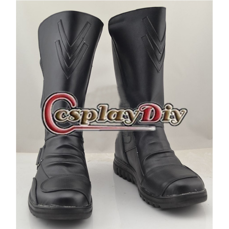 Star Wars Cosplay Boots Darth Vader Shoes Adult Men's Cosplay Boots Custom Made saint seiya cosplay shoes boots anime shoes for adult men s halloween cosplay accessories custom made