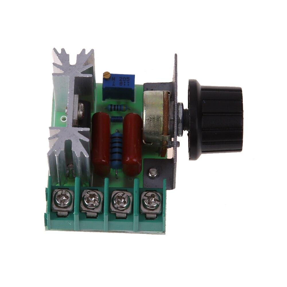 controlador de control de velocidad del motor de 2000W AC Regulador de voltaje del controlador de velocidad del motor ajustable 50-220V 25A