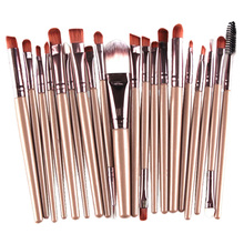 Pro 20Pcs Cosmetic Makeup Brushes Set Bulsh Powder Foundation Eyeshadow Eyeliner Lip Make up Brush Beauty Tools Maquiagem JU303