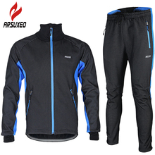 ARSUXEO 2017 Bike Bicicleta Motocross Jersey And Pants Set Sport Suit Cycling Clothing Ropa Roupas Masculina