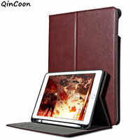 Business Case w/Pencil Holder for iPad mini 5 9.7 2018 pro 9.7 air 2 Smart Cover for iPad pro 10.5 air 3 10.2 2019 pro 12.9 2017
