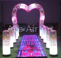 Wedding decoration standing LED light Inflatable LOVE shaped wedding Arch and pillars