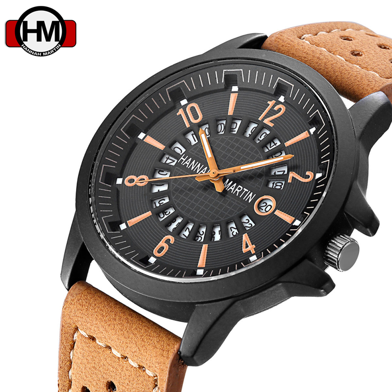 Casual Quartz Wrist Watch Men Top Brand Luxury 3D Face Male Leather Strap Sport Army Calendar Relogio Masculino Clock Hodinky 22 xinge top brand luxury leather strap military watches male sport clock business 2017 quartz men fashion wrist watches xg1080