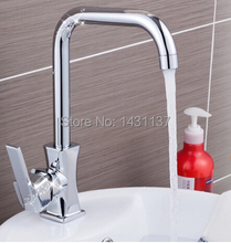 Мода высокое качество латунь материал одним рычагом горячей и холодной кран кухня ванная комната для мойки смеситель