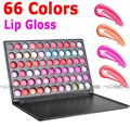 Professional  66 Color Lip Gloss Lipstick pallet  Moisture Lip makeup artist Palette Cosmetic Free Shipping