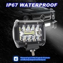2 sztuk 4 Cal 60W światło robocze powodzi Spot Combo Off road jazdy lampy przeciwmgielne BoatSUV LED lampy dla samochodów Luces Led Para Auto