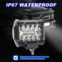 2PCS 4 นิ้ว 60 วัตต์ทำงานไฟจุดน้ำท่วมCombo Off roadขับรถหมอกโคมไฟBoatSUV LEDโคมไฟสำหรับรถยนต์Luces LED Para AUTO