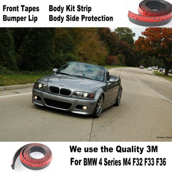 Lyudmila Car Bumper Lip / Body Kit For BMW 3 M3 E30 E36 E46 E90 E91 92 E93 Front Tapes Rear Skirt Spoiler Deflector Rubber Strip image