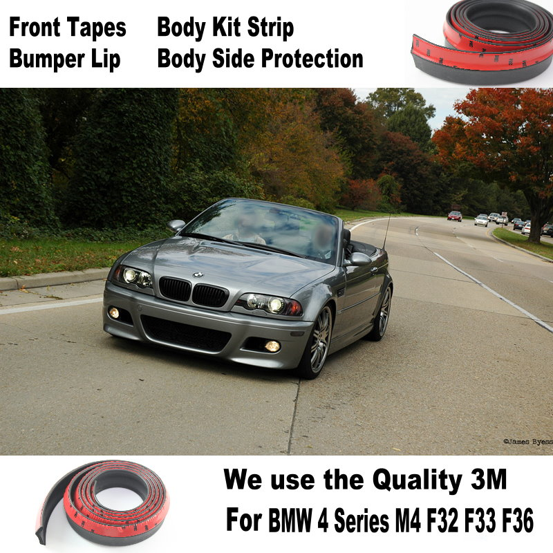 Lyudmila Car Bumper Lip / <font><b>Body</b></font> <font><b>Kit</b></font> For BMW 3 M3 <font><b>E30</b></font> E36 E46 E90 E91 92 E93 Front Tapes Rear Skirt Spoiler Deflector Rubber Strip image