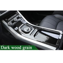 For Land Rover Range Rover Evoque 2012-2017 ABS Center Console Gear Panel Dark wood grain Decorative Cover Trim Car-Styling цены