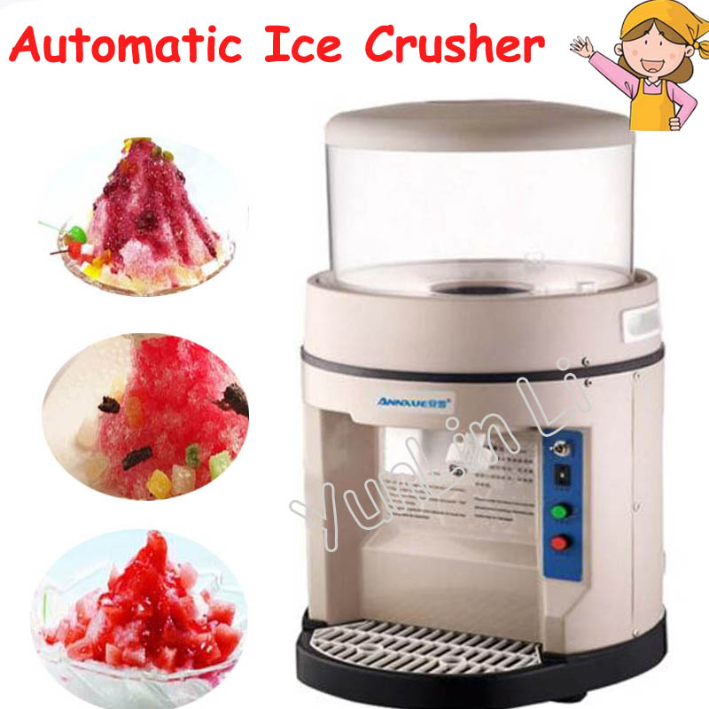 Commercial Automatic Ice Crusher High-Power Smoothies Machine 300kg Per Hour Ice Machine Snow Ice Maker YM-580