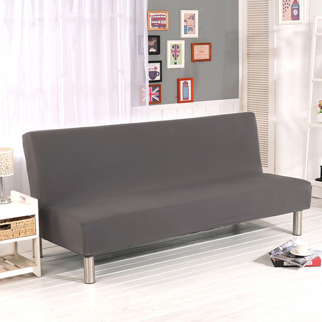 All Inclusive Folding Sofa Bed Cover No Armrest Sofa Cover Elastic  Polyester Furniture Couch Cover