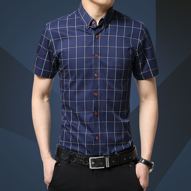 YG6185-9 Free shipping Cheap wholesale 2016 new Men's cotton checked han edition cultivate one's morality short sleeve shirts