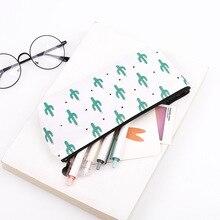 2017 Kawaii Pencil Case Cactus Canvas School Supplies Bts Stationery Gift Estuches School Cute Pencil Box Pencilcase Pencil Bag