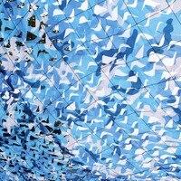 3M*10M filet camouflage netting blue camo Netting for sun canopy beach sunshade party decoration sun shading tent beach tarp