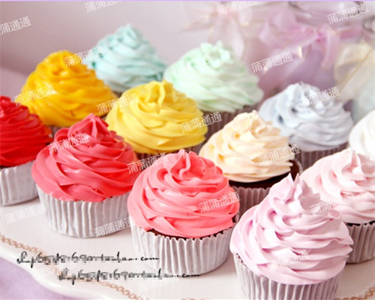 26 Colour Artificial fake cake simulation model decorative mini     26 Colour Artificial fake cake simulation model decorative mini cupcake  kitchen dessert decoration furnishings photography props in Figurines    Miniatures