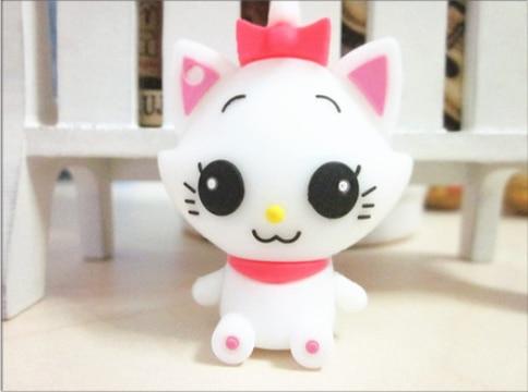 USB Flash Drive/U Disk/creative Pendrive/Memory Stick/Disk/Gift animal cartoon white cat cute S104 2GB 4GB 8GB 16GB 32GB#21