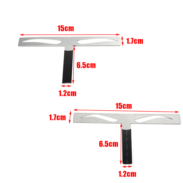 New Microblading Eyebrow Balance Ruler Metal Tattoo Shaping Stencil Permanent Makeup Caliper Measure Definition Grooming Tool 4