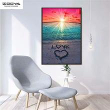 Zooya 5d diamond painting Beach by the sea new 2019 full square landscape embroidery sale romantic photos diy gift M0056