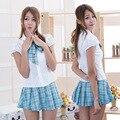 Japonês Departamento de malha azul uniformes saia pequenos estudantes para instalar um pequeno era de estudantes frescos para servir de KTV bar
