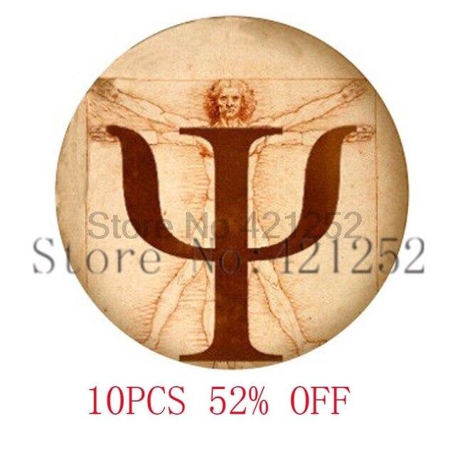 Psi Symbol Da Vincis Golden Section Glass Photo Cabochon Necklace