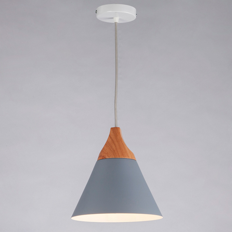 The Nordic minimalist wooden chandelier chandelier lamp bar Cafe creative personality single head aluminum wood Chandelier scene nordic creative bar minimalist dining room bedroom retro american single head wood japanese clothing store chandelier