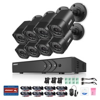 ANNKE 8 X 1500TVL 720P Outdoor Cameras 1080N TVI 4in1 8CH DVR Security System CCTV Surveillance