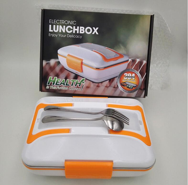 Both Car/Home Use Electric Lunch Box Stainless Steel inner Pot Food Heater Heated Lunch Boxes Electric food Warmer