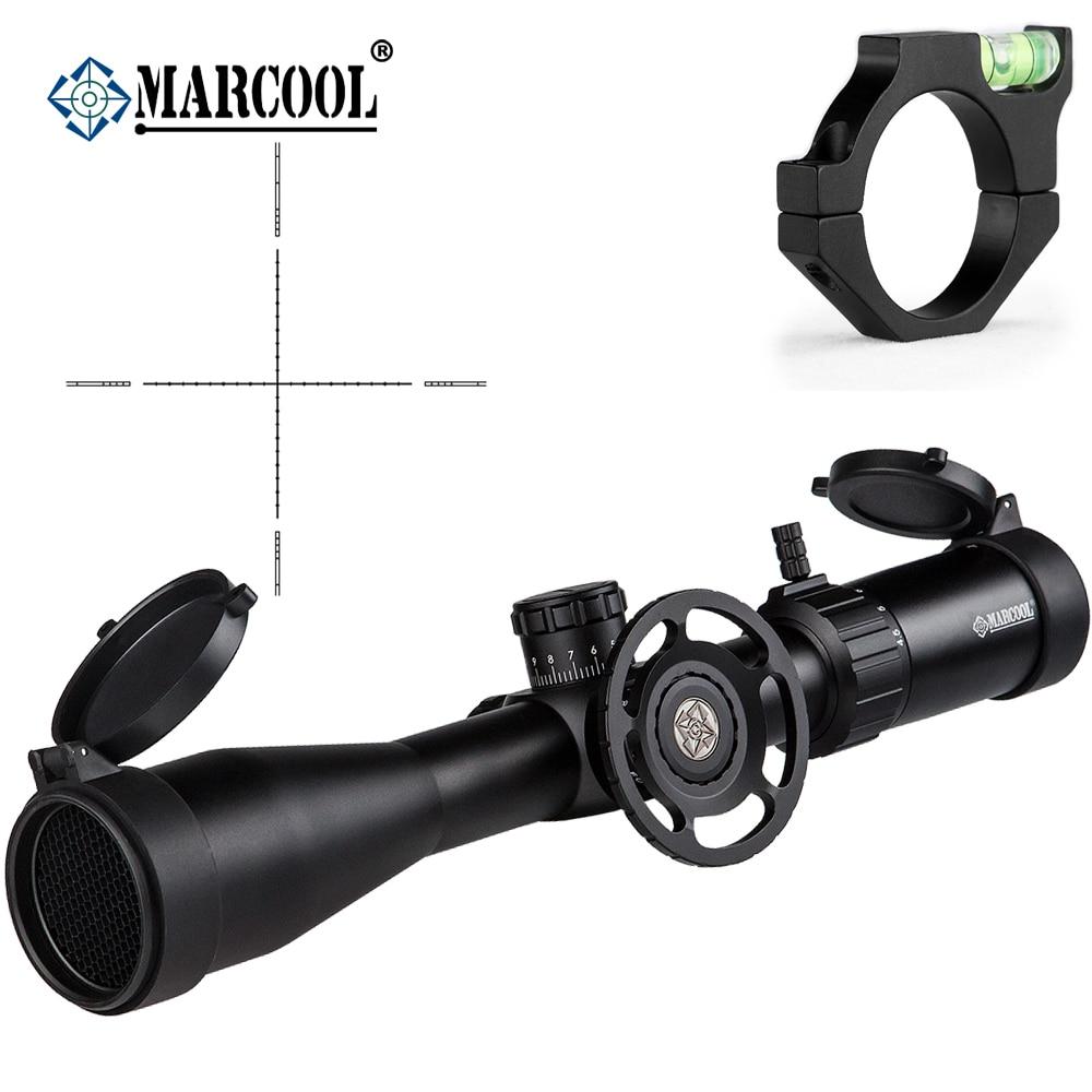 MARCOOL Airsoft Rifle Ottica 4.5-18X44 SF Obiettivo Pistole Telescopico Sight Mirino Telescopio Per La Caccia Con La Bolla monte Anelli