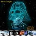Star Wars Darth Vader 3D Regalo de iluminación Lámpara de Mesa LED de Luz Colorida de La Noche de Los Niños Veilleuse Bebé Nightlight Lumineuse Lamba