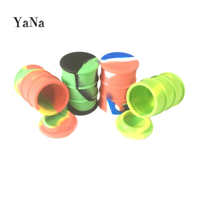 Yana Large Silicone Oil Drum Barrel Container 26 Ml Dry Herb Wax Vaporizer E Cigarette