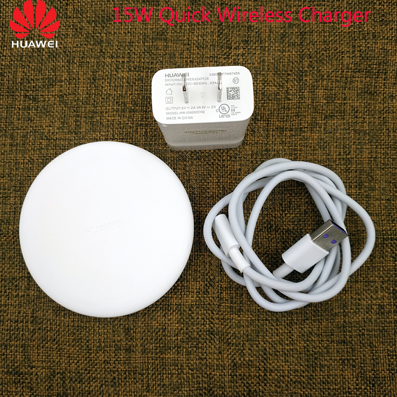 Image 1 - Original Huawei P30 Pro Fast Charge 15W QI Wireless Charger Supercharge 5A Type C Cable For Samsung S10 S9 S8 Huawei Mate 20 Pro-in Mobile Phone Chargers from Cellphones & Telecommunications