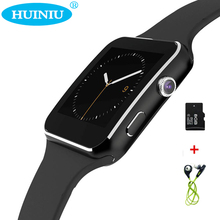 X6 E6 Curved Screen Bluetooth Smart Watch Clock With Camera Support SIM SD Card reloj inteligente Wristwatch For Android Phone