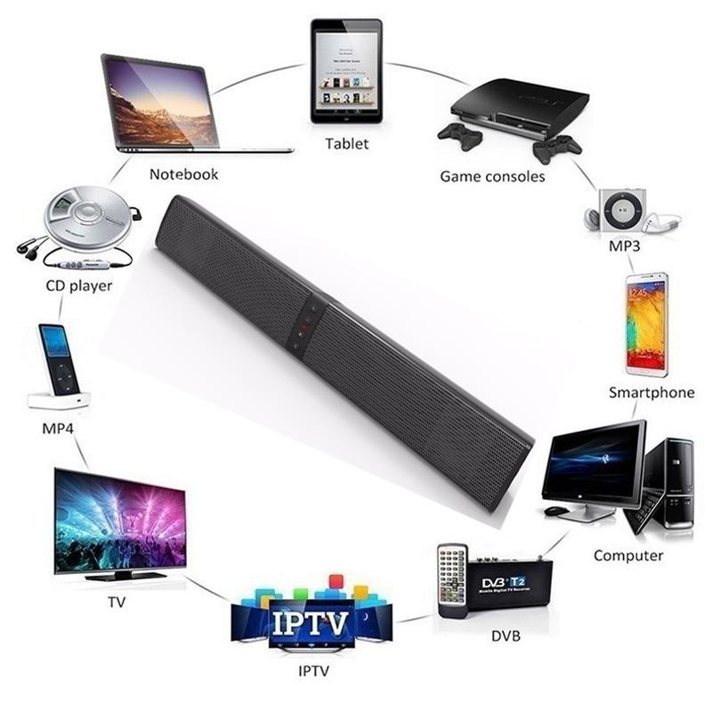 20W TV sound bar box Tragbare Bluetooth Lautsprecher Wireless home theater system 3D HIFi Stereo Soundbar PC FM radio woofer Computer