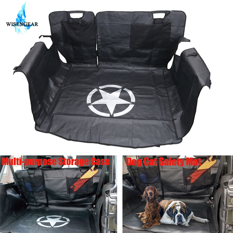 WISENGEAR Rear Bench Floor Mat Storage Cargo Liners for Jeep Wrangler JK 2007-2017 Dog Cat Safety Mat  /WISENGEAR Rear Bench Floor Mat Storage Cargo Liners for Jeep Wrangler JK 2007-2017 Dog Cat Safety Mat  /